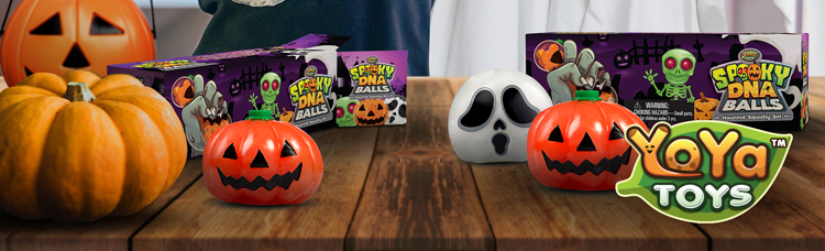 Halloween Squishy Ball Gift Set For Stress Relief By YoYa Toys