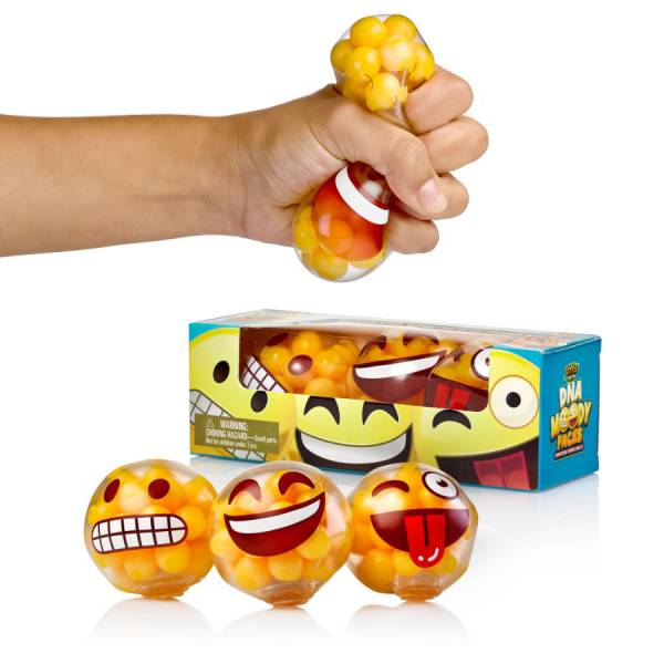 DNA Moody Faces - Emoji Stress Balls by YoYa Toys - Squeezing Stress Relief _ Fidget Toy