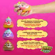 DNA Poopy Faces By YoYa Toys - Squishy Toys For Autism, Fidgeting, ADHD, Quitting Bad Habits _ More