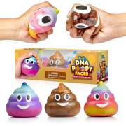 DNA Poopy Faces By YoYa Toys - Stress Balls [3 Pack]