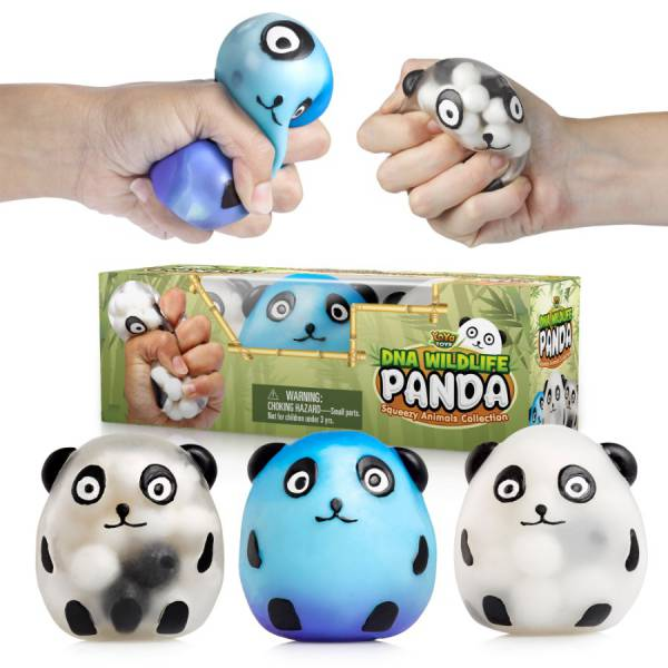 DNA Wildlife Panda Stress Ball by YoYa Toys [3-Pack]
