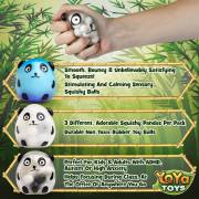 DNA Wildlife Panda Stress Ball by YoYa Toys - Squishies for Autism, Fidgeting, ADHD _ Quitting Bad Habits