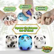 DNA Wildlife Panda Stress Ball by YoYa Toys - Stimulating _ Calming Sensory Squishy Balls for Kids _ Adults