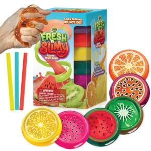 Fresh N Slimy Fluffy Fruit Slime [6-Pack] by YoYa Toys