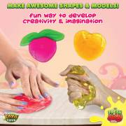 Fresh N Slimy Fluffy Fruit Slime by YoYa Toys [6-Pack] - KEEP YOUR STRESS-LADEN MIND BUSY!