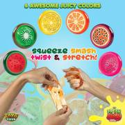 Fresh N Slimy by YoYa Toys - Kiwi, Lemon, Orange, Watermelon, Dragon Fruit _ Passion Fruit Sludge Slimes