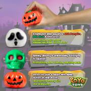 Spooky DNA Stress Balls by YoYa Toys Pumpkin, Ghost _ Skull Squeeze Balls