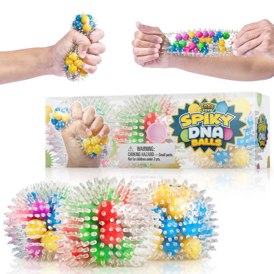 YoYa Toys Spiky DNA LED Ball [3-Pack]